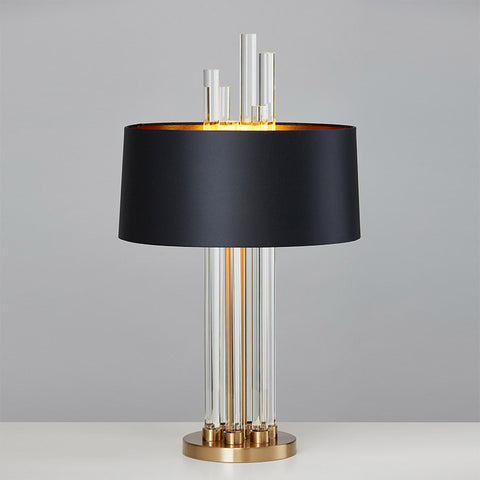 Modern Luxury Light/Glass Designer Table Lamp Fabric Lampshade