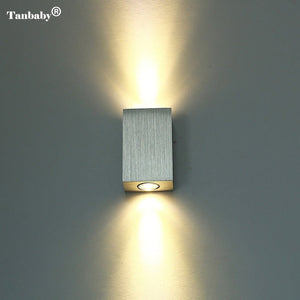 LED Wall Lamp Light Fixture, Brushed Aluminum