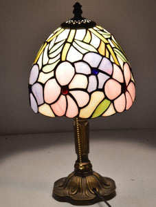 Tiffany Style Vintage Stained Glass LED Table Lamp