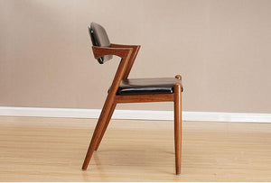 Solid wood retro dining chair