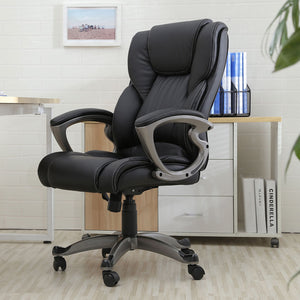 Executive Faux Leather Swivel High Back Office Chair