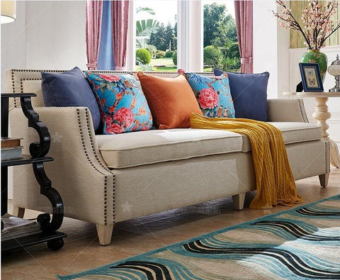 American country fabric livingroom sofa