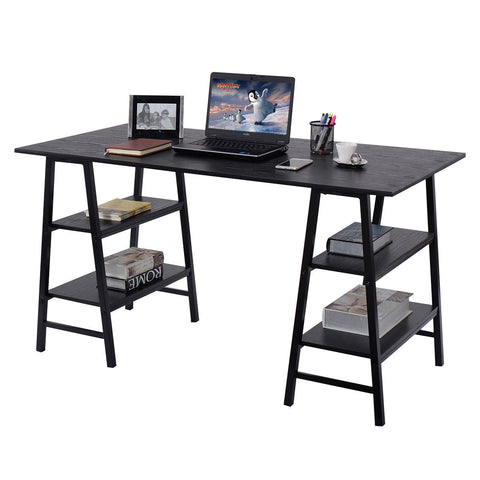 Costway 55'' Trestle Computer Desk