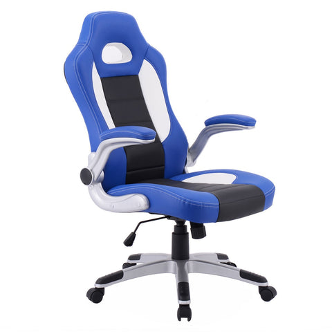PU Leather Executive Racing Style Bucket Seat Chair