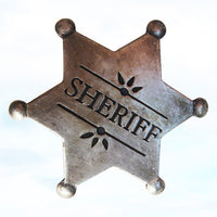 Antique Old West Obsolete 1900's Sheriff Police Officer Badge