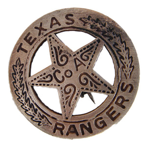 Antique Old West Texas Ranger Co A Police Officer Badge