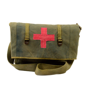 Vintage Canvas Crossbody Messenger/School Bag