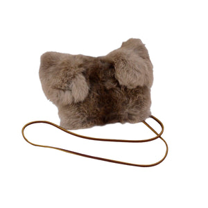 High Fashion Genuine Rabbit Fur Evening Purse/Bag
