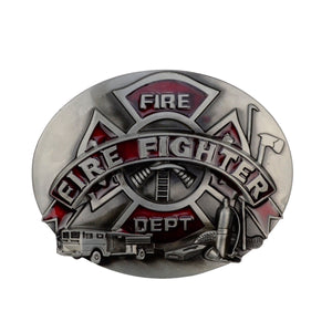 Metal Firefighter/Fire Dept Belt Buckle
