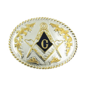 Freemason Metal Belt Buckle