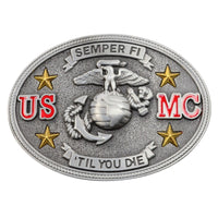 Men's or Women's Metal US Marine Corps Belt Buckle