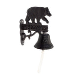 Metal Black Bear Welcome/Dinner Bell