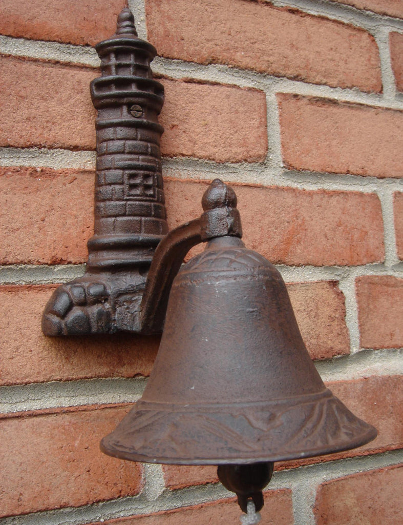 Cast Iron Lighthouse Welcome Bell