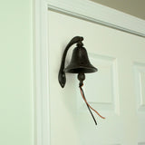 Vintage Cast Iron Dinner Bell w/Bracket
