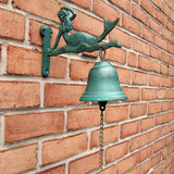 Cast Iron Mermaid Tiki Bar Dinner Call Bell