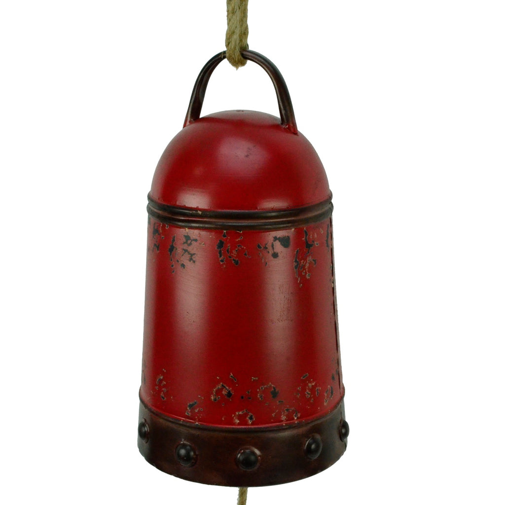 Lg Red Metal Farmhouse Cow Bell