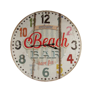 Large Tropical Beach House Clock