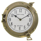 Solid Brass Maritime Ships Porthole Beach House Wall Clock Decor