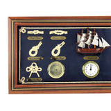 Rope Knot Board Nautical Wall Decor Clock