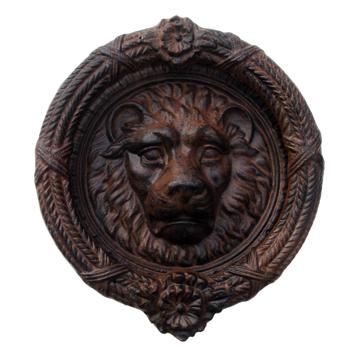 Antique-Style Cast Iron Lion's Head Door Knocker - Antique-Style Cast Iron Lion's Head Door Knocker TreasureGurus