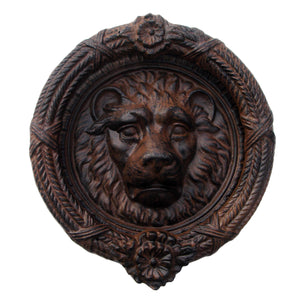 Antique-Style Cast Iron Lion's Head Door Knocker