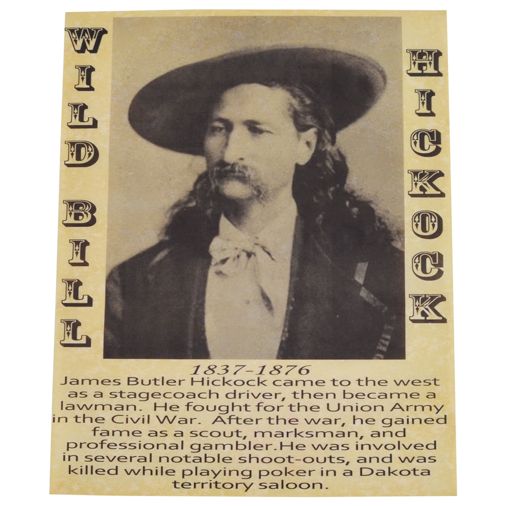 Wild Bill Hickock Gunfighter Old West Poster
