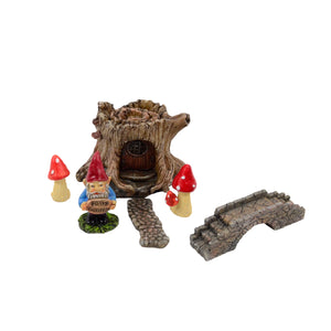 Miniature Outdoor Dollhouse Fairy Garden Gnome Set