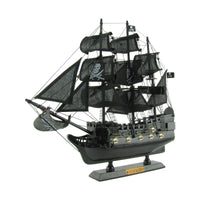 Wood Pirate Ship Model and Display Stand