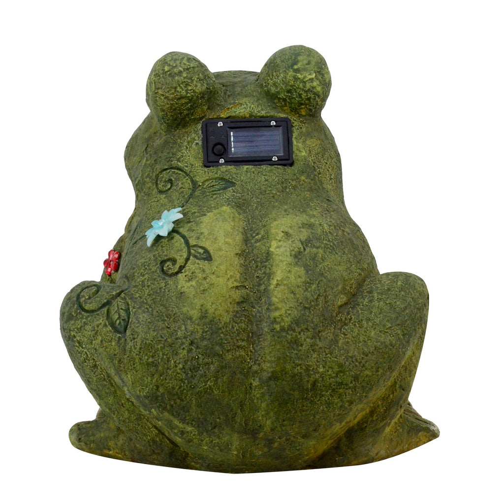 Solar Light Frog Garden Statue/Figurine | TreasureGurus