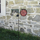 Solar Powered LED Light Garden Tractor Wind Spinner Lawn Ornament