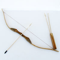 Wooden Bow and Arrow with Quiver and 3 Pack of Arrows