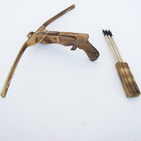 Wooden Youth Crossbow with Quiver and 3 arrows