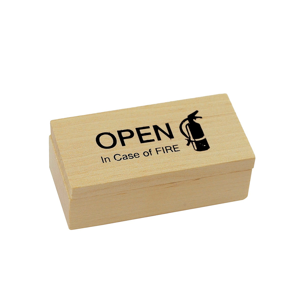 Open In Case of Fire Gag Gift Practical Joke Toy