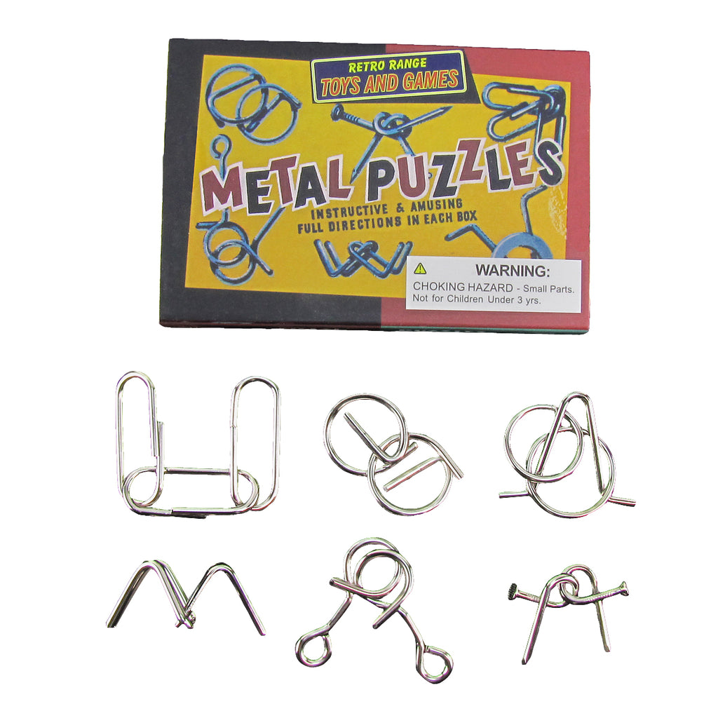 Metal Wire Magic Trick Brain Teaser Toy IQ Puzzles