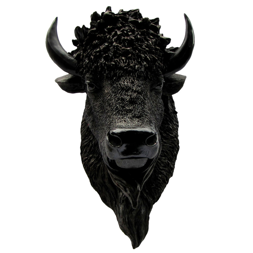 Resin North American Wild Bison Head Shoulder Bust