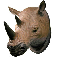 3D Life Size Hanging Wall Mounted African Rhinoceros Head Mount