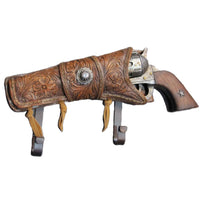 Cast Iron Western Cowboy Gun Hat, Coat, Towel Hook