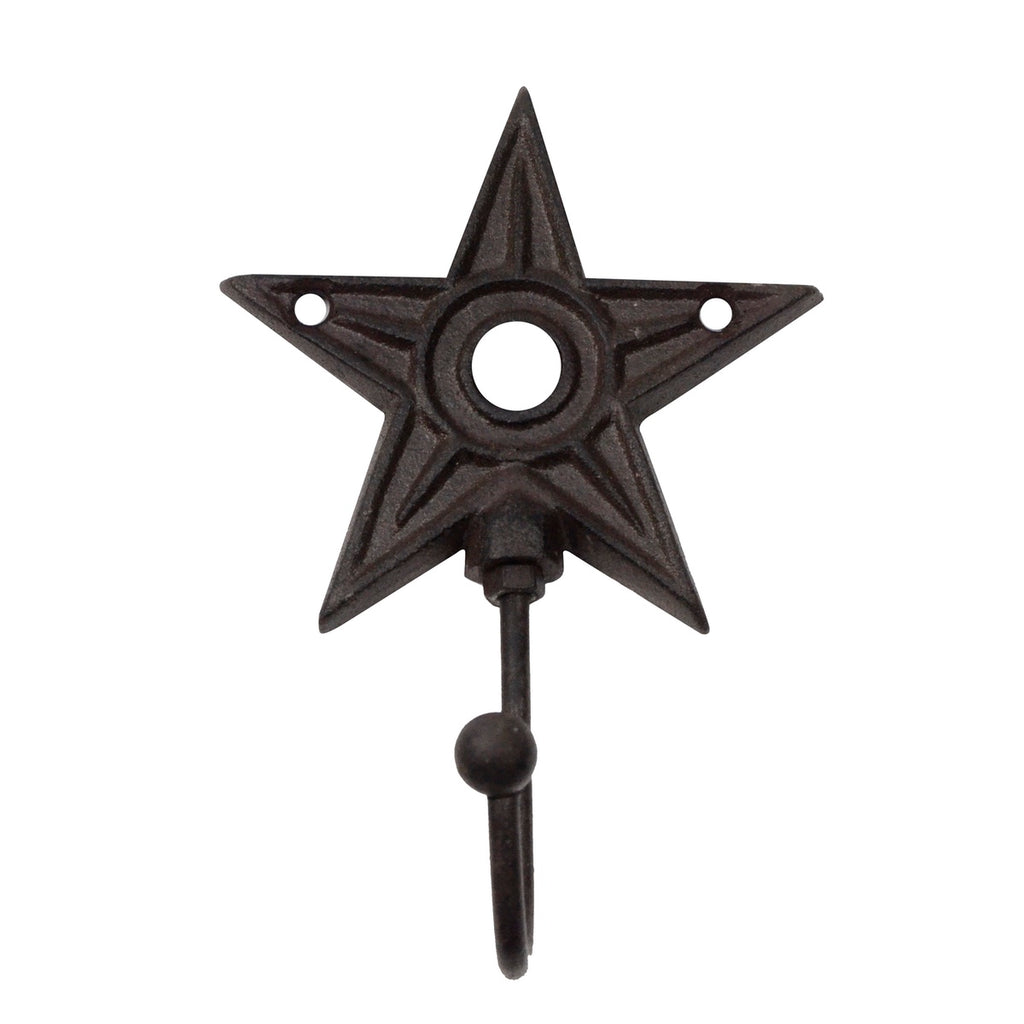 Rustic Metal Barn Star Wall Mount Hook