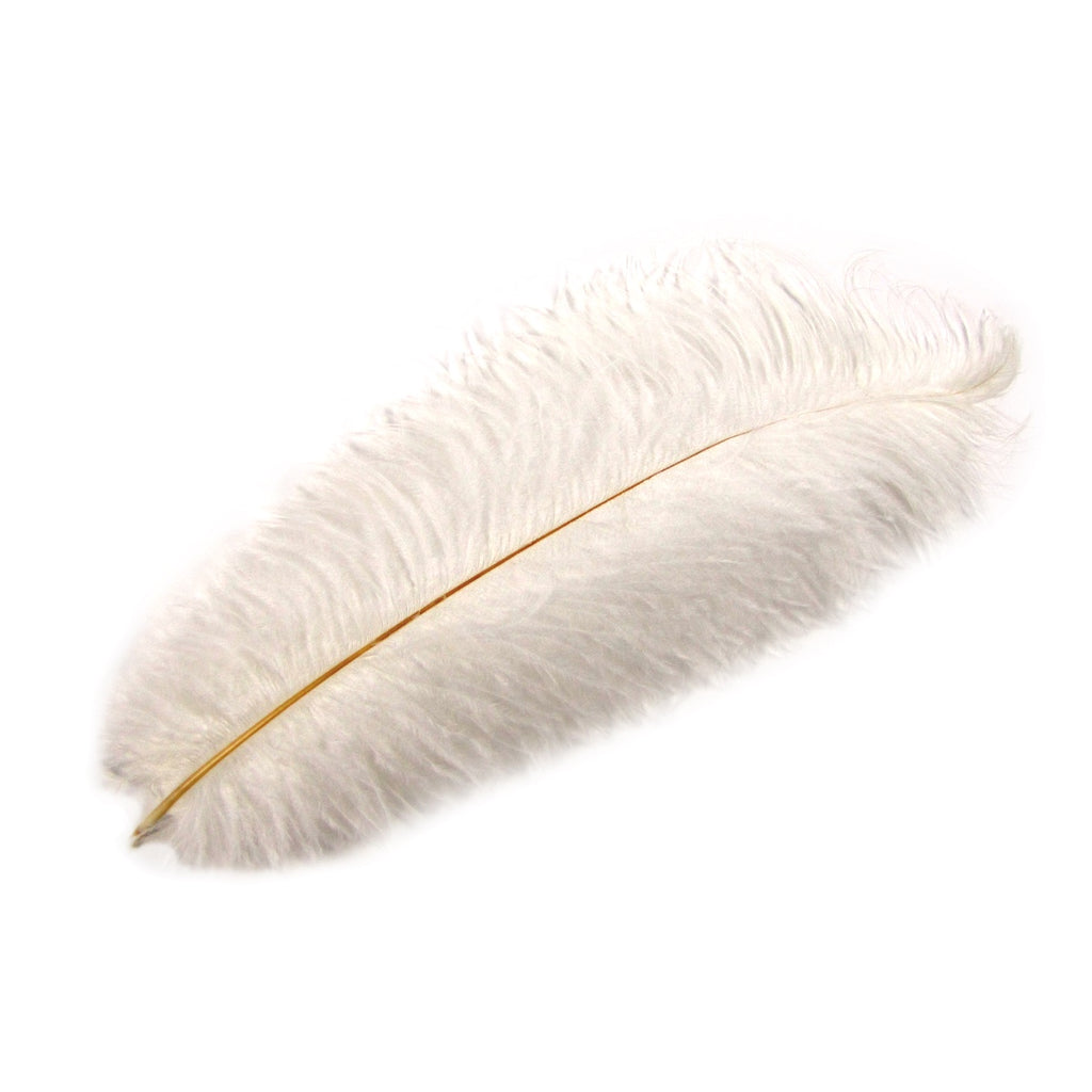 White Long Ostrich Wing Feathers Plume
