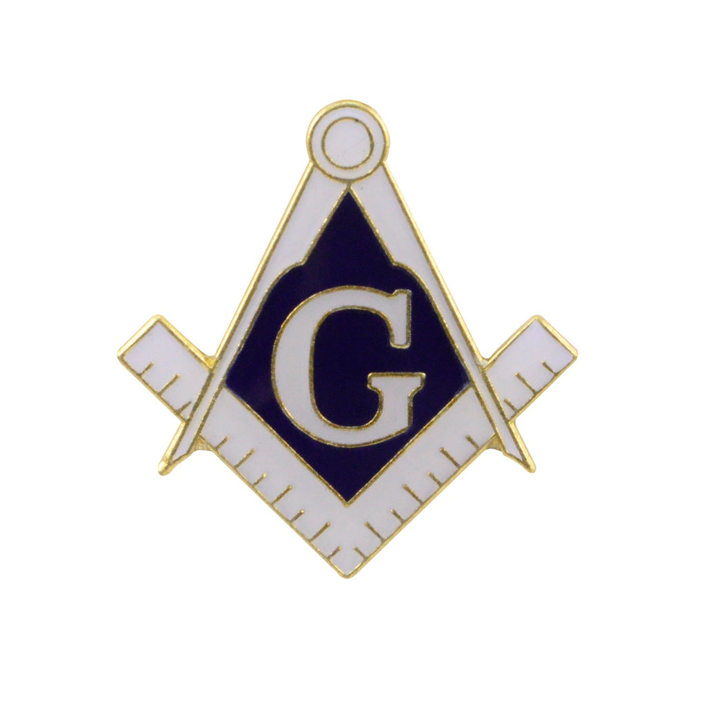 Blue and White Masonic Collar/Lapel Pin