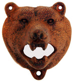 Cast Iron Wall Mount Black Bear Top Bottle Opener