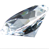 Giant 100mm Clear Faceted Jewel Paperweight