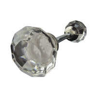 Vintage Style Clear Cut Glass Door Knob