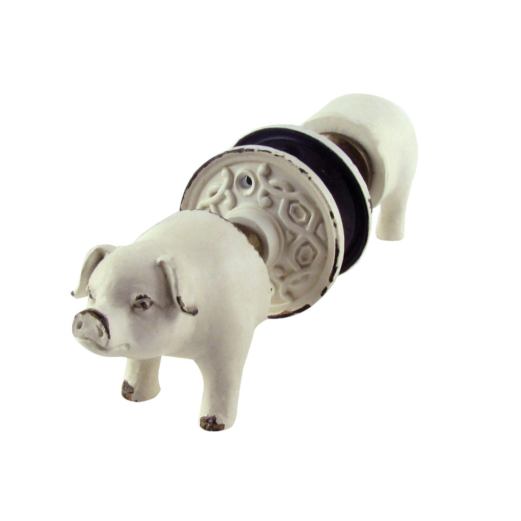 Rustic Kitchen Pig Nose and Tail Door Knob Set