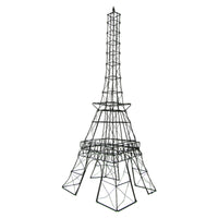 Black Wire Metal Eiffel Tower Model Storage Organizer
