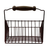 Rustic Metal Wire Storage Bin/Basket