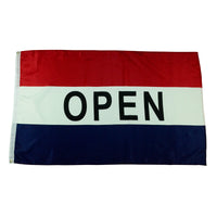 3x5 Foot OPEN Business Flags
