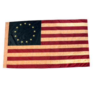 Sewn Tea-Stained Betsy Ross 3'x5' Yard Banner