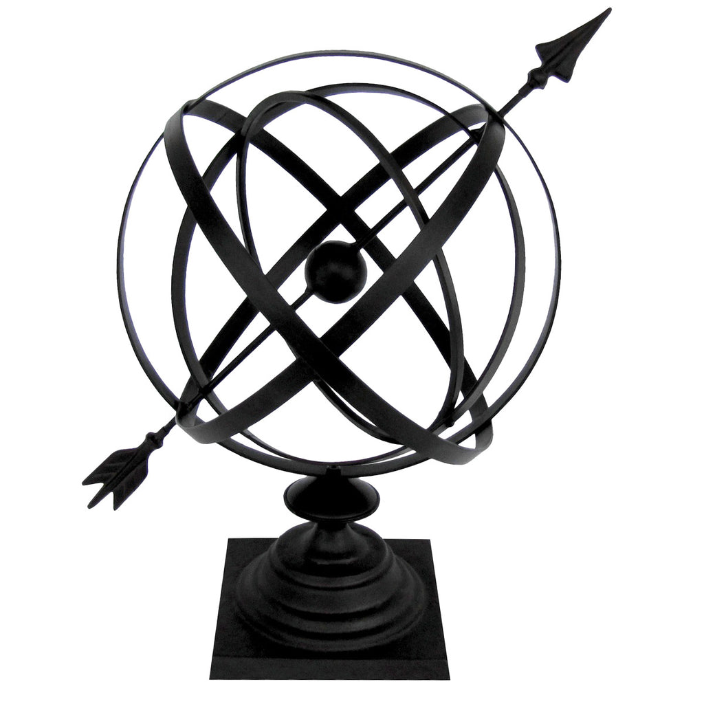 Cast Iron Garden Arrow Armillary Sphere Sundial