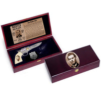 Jesse James Pistol Gun Knife W/ Sheath and Badge Collectors Set